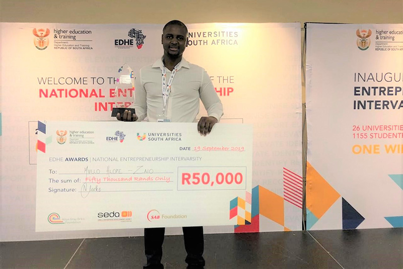 Mvelo Hlophe is the winner of the Existing Business, Social Impact category