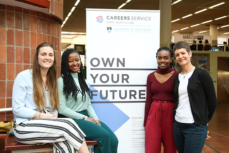 Members of the UCT Careers Service team were on site to assist students and social impact organisations