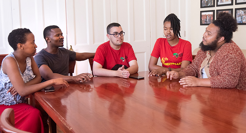 Members of the SRC discuss their hopes for their term of office