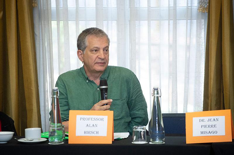 Prof Hirsch speaking